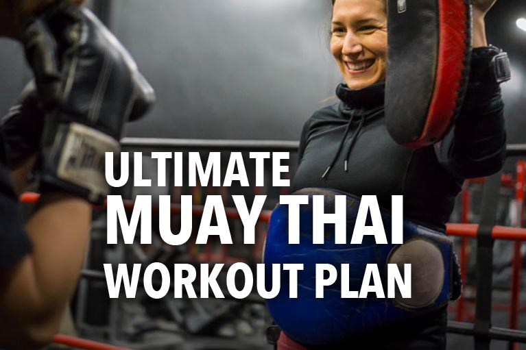 Muay Thai women workout